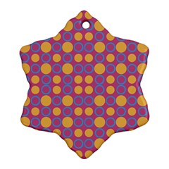 Colorful Geometric Polka Print Ornament (snowflake) by dflcprints