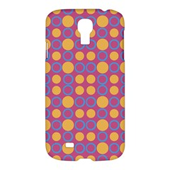 Colorful Geometric Polka Print Samsung Galaxy S4 I9500/i9505 Hardshell Case by dflcprints