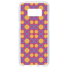 Colorful Geometric Polka Print Samsung Galaxy S8 White Seamless Case