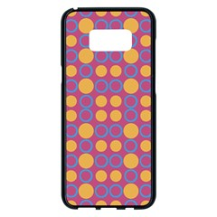 Colorful Geometric Polka Print Samsung Galaxy S8 Plus Black Seamless Case by dflcprints