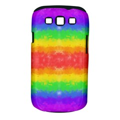 Striped Painted Rainbow Samsung Galaxy S Iii Classic Hardshell Case (pc+silicone) by Brini