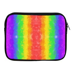 Striped Painted Rainbow Apple Ipad 2/3/4 Zipper Cases by Brini