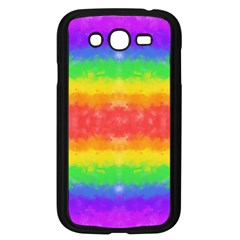 Striped Painted Rainbow Samsung Galaxy Grand Duos I9082 Case (black) by Brini