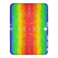 Striped Painted Rainbow Samsung Galaxy Tab 4 (10 1 ) Hardshell Case  by Brini