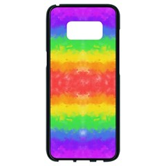 Striped Painted Rainbow Samsung Galaxy S8 Black Seamless Case