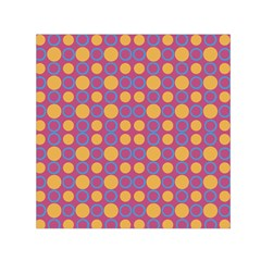 Colorful Geometric Polka Print Small Satin Scarf (square) by dflcprintsclothing