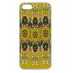 Rainbow And Stars Coming Down In Calm  Peace Apple Seamless Iphone 5 Case (clear) by pepitasart