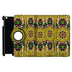 Rainbow And Stars Coming Down In Calm  Peace Apple Ipad 3/4 Flip 360 Case by pepitasart