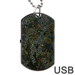 Chaos B2 Dog Tag Usb Flash (two Sides) by MoreColorsinLife