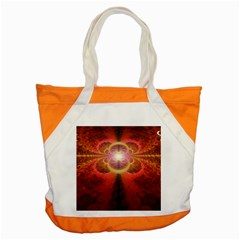 Liquid Sunset, A Beautiful Fractal Burst Of Fiery Colors Accent Tote Bag by beautifulfractals