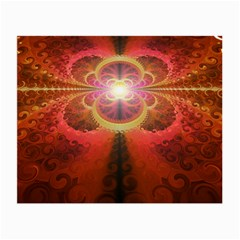 Liquid Sunset, A Beautiful Fractal Burst Of Fiery Colors Small Glasses Cloth (2 Side) by beautifulfractals
