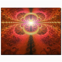 Liquid Sunset, A Beautiful Fractal Burst Of Fiery Colors Canvas 11  X 14