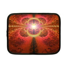 Liquid Sunset, A Beautiful Fractal Burst Of Fiery Colors Netbook Case (small)  by jayaprime