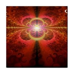 Liquid Sunset, A Beautiful Fractal Burst Of Fiery Colors Face Towel by jayaprime