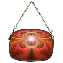 Liquid Sunset, A Beautiful Fractal Burst Of Fiery Colors Chain Purses (two Sides)