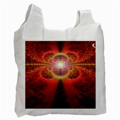 Liquid Sunset, A Beautiful Fractal Burst Of Fiery Colors Recycle Bag (one Side)