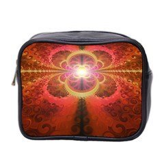 Liquid Sunset, A Beautiful Fractal Burst Of Fiery Colors Mini Toiletries Bag 2 Side by jayaprime