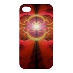 Liquid Sunset, A Beautiful Fractal Burst Of Fiery Colors Apple Iphone 4/4s Hardshell Case