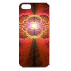 Liquid Sunset, A Beautiful Fractal Burst Of Fiery Colors Apple Seamless Iphone 5 Case (clear)