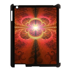 Liquid Sunset, A Beautiful Fractal Burst Of Fiery Colors Apple Ipad 3/4 Case (black) by beautifulfractals
