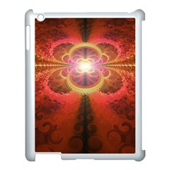 Liquid Sunset, A Beautiful Fractal Burst Of Fiery Colors Apple Ipad 3/4 Case (white) by beautifulfractals