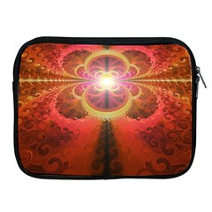 Liquid Sunset, A Beautiful Fractal Burst Of Fiery Colors Apple Ipad 2/3/4 Zipper Cases by beautifulfractals
