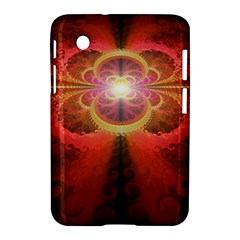 Liquid Sunset, A Beautiful Fractal Burst Of Fiery Colors Samsung Galaxy Tab 2 (7 ) P3100 Hardshell Case  by beautifulfractals