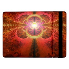 Liquid Sunset, A Beautiful Fractal Burst Of Fiery Colors Samsung Galaxy Tab Pro 12 2  Flip Case by jayaprime