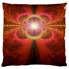 Liquid Sunset, A Beautiful Fractal Burst Of Fiery Colors Standard Flano Cushion Case (one Side)