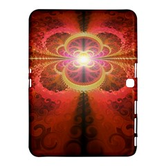 Liquid Sunset, A Beautiful Fractal Burst Of Fiery Colors Samsung Galaxy Tab 4 (10 1 ) Hardshell Case  by jayaprime
