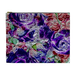 Floral Chrome 01a Cosmetic Bag (xl) by MoreColorsinLife