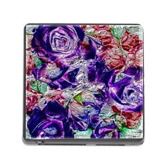 Floral Chrome 01a Memory Card Reader (square) by MoreColorsinLife