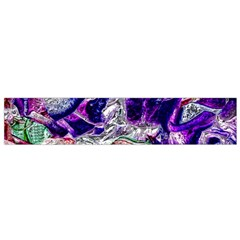 Floral Chrome 01a Flano Scarf (small) by MoreColorsinLife