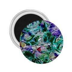 Floral Chrome 01b 2 25  Magnets by MoreColorsinLife
