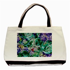 Floral Chrome 01b Basic Tote Bag by MoreColorsinLife