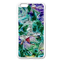 Floral Chrome 01b Apple Iphone 6 Plus/6s Plus Enamel White Case by MoreColorsinLife