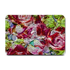 Floral Chrome 01c Small Doormat  by MoreColorsinLife