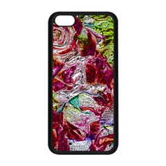 Floral Chrome 01c Apple Iphone 5c Seamless Case (black) by MoreColorsinLife