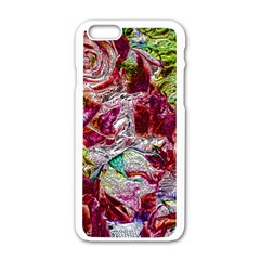 Floral Chrome 01c Apple Iphone 6/6s White Enamel Case by MoreColorsinLife