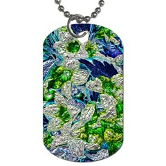 Floral Chrome 2a Dog Tag (two Sides) by MoreColorsinLife