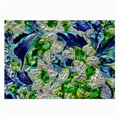 Floral Chrome 2a Large Glasses Cloth (2 Side) by MoreColorsinLife