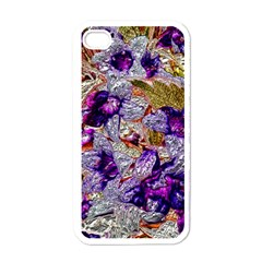 Floral Chrome 2b Apple Iphone 4 Case (white) by MoreColorsinLife