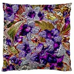 Floral Chrome 2b Standard Flano Cushion Case (one Side) by MoreColorsinLife