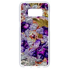 Floral Chrome 2b Samsung Galaxy S8 White Seamless Case by MoreColorsinLife