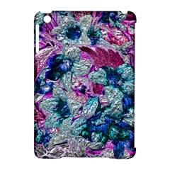 Floral Chrome 2c Apple Ipad Mini Hardshell Case (compatible With Smart Cover) by MoreColorsinLife