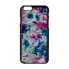Floral Chrome 2c Apple Iphone 6/6s Black Enamel Case by MoreColorsinLife