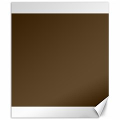 Brown Hide Solid Color  Canvas 8  X 10  by SimplyColor