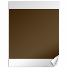 Brown Hide Solid Color  Canvas 12  X 16   by SimplyColor