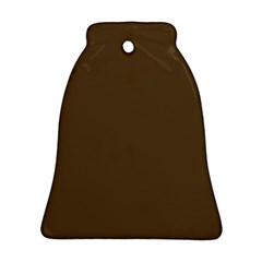 Brown Hide Solid Color  Bell Ornament (two Sides) by SimplyColor