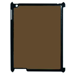 Brown Hide Solid Color  Apple Ipad 2 Case (black) by SimplyColor